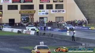NISSAN R35 GTR SKYLINES RACING AT SYDNEY DRAGWAY 12.11.2014