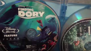 Finding Dory 3D Ultimate Collector's Edition Blu-Ray Unboxing from Disney/Pixar