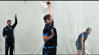 #InsideDerbyshire: Spin bowling session