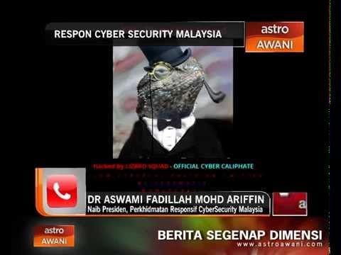 Respon CyberSecurity Malaysia tentang insiden penggodaman