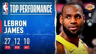LeBron drops Triple-Double!