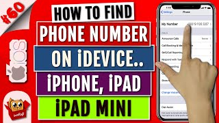 How To Find SIM Phone Number on iPhone/iPad   Find/See/Display Cell/Phone Number on iPhone/iPad