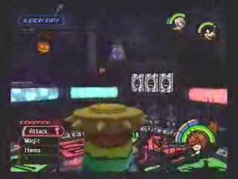 Kingdom Hearts - Oogie Boogie battle :)
