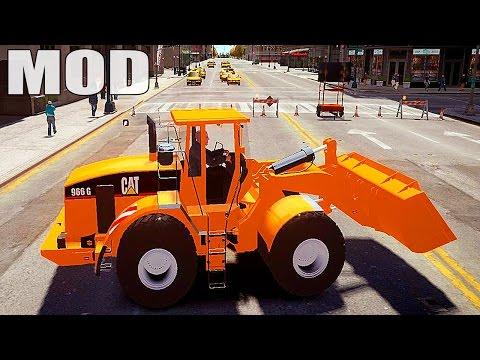 Grand Theft Auto IV - Parachute MOD + Caterpillar v1.0 w/ Working Hydraulics and McLaren P1