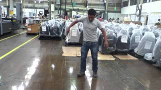 Lear Seating Heat Gunning Leather X3 factory.mp4