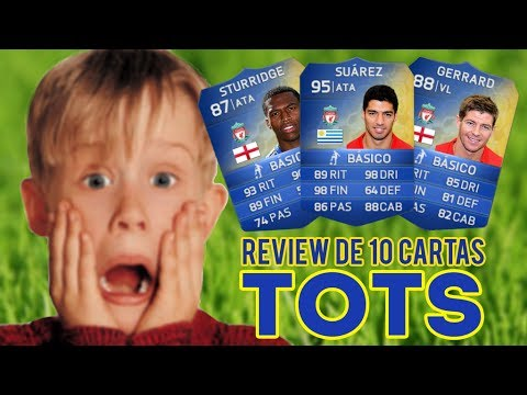Fifa 14 Brasil - Ultimate Team - Review de 10 cartas azuis TOTS BPL (Suarez. Sturrige. Gerrard. etc)