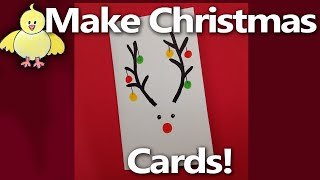 How to Make an Easy Christmas Card - Rudolph Card - Step by Step