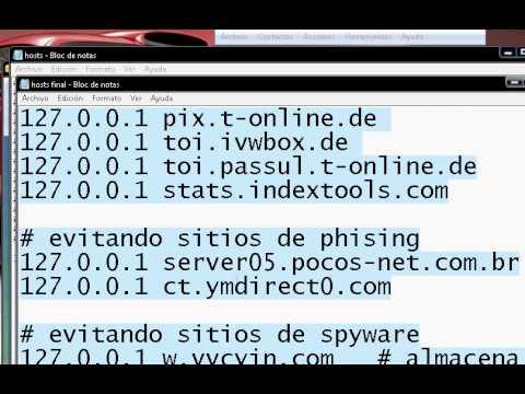 Como Quitar Toda la Publicidad de internet, FACIL!!! Sin PROGRAMAS Edicion archivo hosts!!