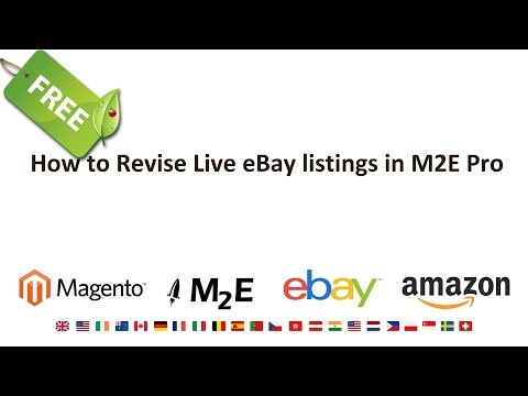 How to Revise Live eBay Listings in Magento