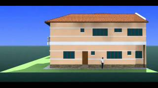 Ubahsuai Rumah - Gambaran Rekabentuk 3D Rumah Semidi 2 Tingkat