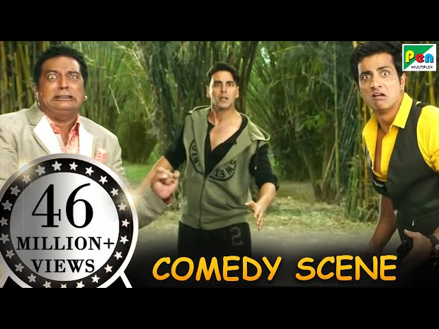 Dogs Fighting With Prakash Raj amp Sonu Sood- Comedy Scenes  Entertainment  Hindi Film