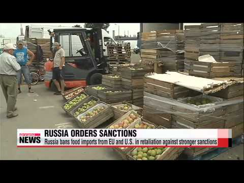 Putin orders food import ban in retaliation against western sanctions