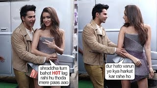 Shraddha Kapoor Getting EMBARA$$ED & Angry As Varun Dhawan 0penly FLIRT$ Wid Her @StreetDancer Event