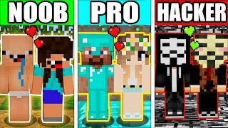 Minecraft - NOOB vs PRO vs HACKER : SUPER BABY LOVE BATTLE in Minecraft Animation
