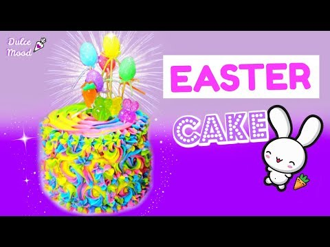 Step By Step How To Bake A Easter Color Cake | Dulce Mood