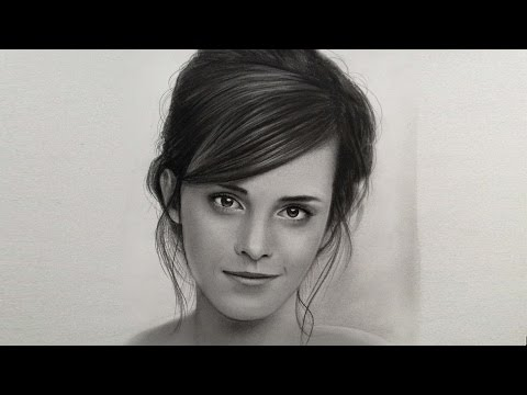 Emma Watson Realistic Portrait drawing | Actress of Beauty and the Beast (2017 film)