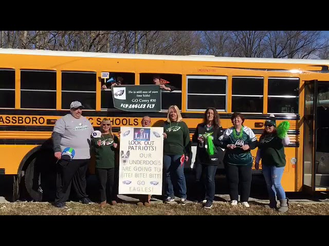 Glassboro bus drivers sing Eagles fight song