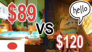 $89 Japanese LOVE Hotel vs $120 DINOSAUR Hotel