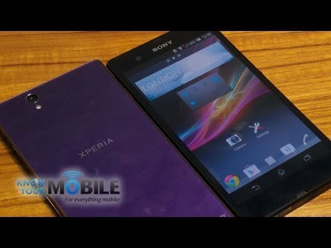 Sony Xperia Z purple and black comparison