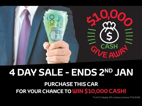 CMI Toyota Adelaide $10,000 Cash Give Away Sale On Now!