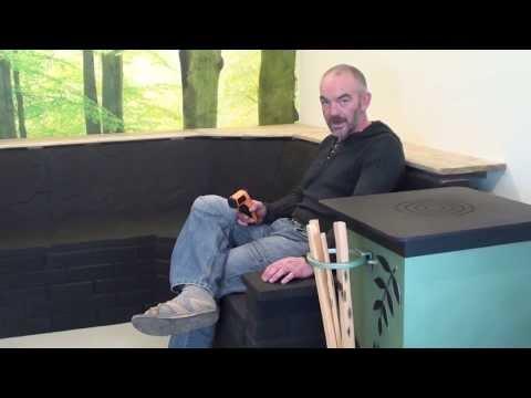 Maya Rocket Stove and Thermal Mass Sofa by Leyland Stoves