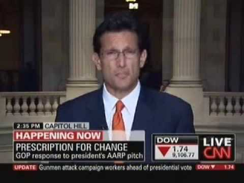 Republican Whip Eric Cantor On President Barack Obama's Health Care Event