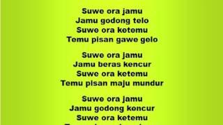 Download Lagu Lagu dan Tari Nusantara: SUWE ORA JAMU - Lagu Anak Gratis STAFABAND