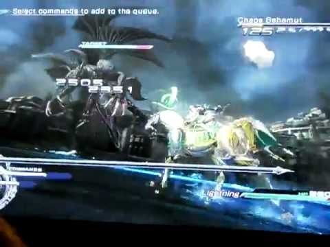 Final Fantasy XIII-2 Lightning Vs Chaos Bahamut Boss Battle