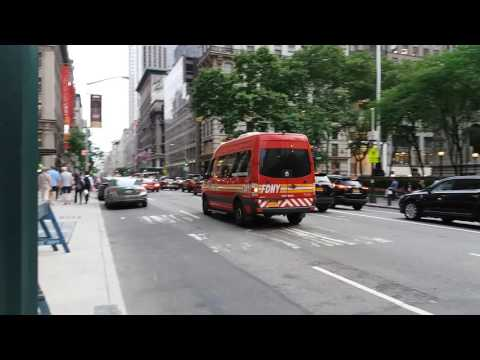 FDNY Marine Operations Sprinter Passing By In Manhattan, New York
