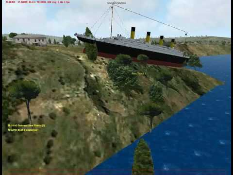 Flying RMS Titanic In Virtual Sailor 7 [Wreck]