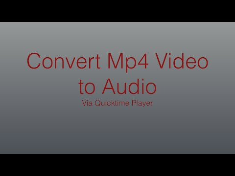 How to: Convert Mp4 to Mp3