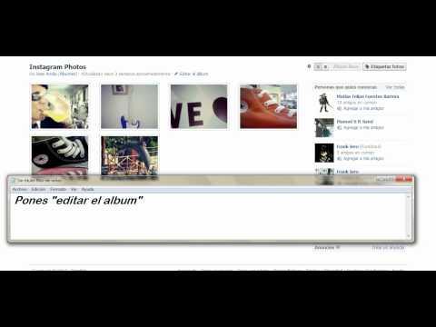 Como editar álbumes de Facebook