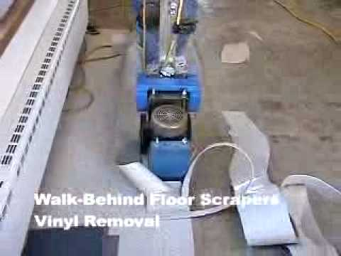 Walk Behind Floor Scrapers Vinyl Youtube