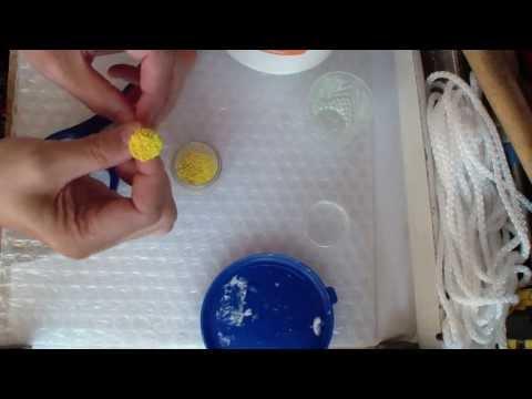 Как сделать ромашки из ткани видео