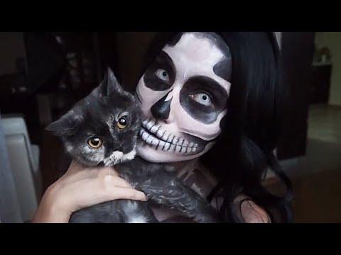 Skull Halloween Makeup / Макияж На ХЭЛЛОУИН