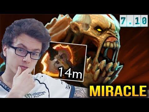 MIRACLE Life Stealer with Battle Fury Carry Dota 2 7.10