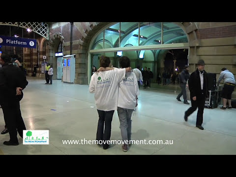 Sydney TAFE Students Flash Mob Dance at Central Station Sydney