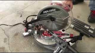 How To Build A Dune Buggy From Scratch - 002 - Miter Saw & Tack Welding
