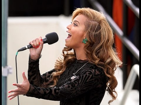 2013 inaugural:President Obama's Inauguration Ceremony,  Beyonce LIP SYNCS National Anthem