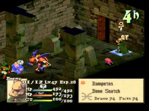 FFT v1.3 First Playthrough Part 94 - ZaReLa Fight (no commentary)