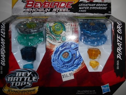 Beyblade Shogun Steel 2-Pack: Leviathan Orochi Water Synchrome unboxing!