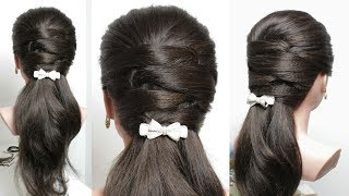 Easy everyday hairstyle for long medium hair