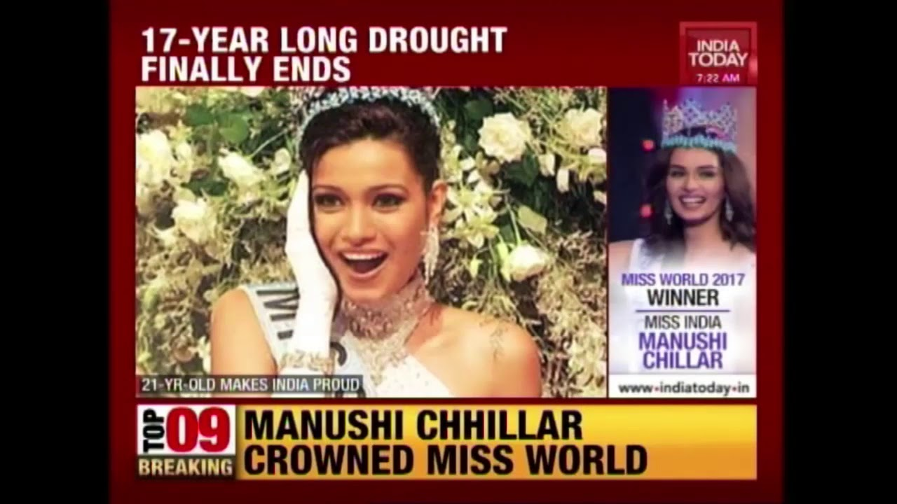 India's 17-Year Long Drought Finally Ends, Manushi Chillar Wins Miss World Crown