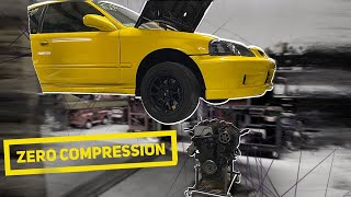 DID I BLOW UP MY 600HP TURBO HONDA CIVIC?! zero compression....