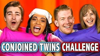 CONJOINED TWINS CHALLENGE (ft. React Cast) | Challenge Chalice