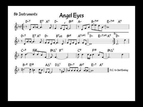 Angel Eyes - Play Along - Bb Version