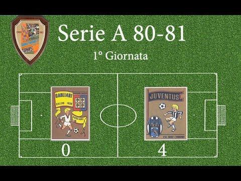 Serie A 1980\81 Cagliari-Juventus (1°Giornata)