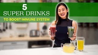 5 Super Drinks to BOOST Immune System (Drink every morning!)   Joanna Soh