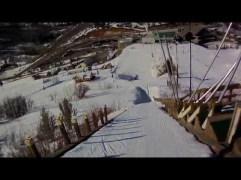 Girls first Ski Jump