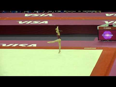 Anastasia Grishina FX - 2012 Test Event Podium Training